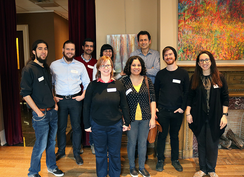With grad students at MOTH McGill, 2018.